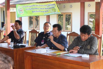 Sosialisasi DPU Kab. Bantul tentang Pekerjaan Paket 7 Rehabilitasi/Pemeliharaan DI Mejing
