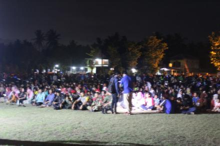Ribuan masyarakat se-Kecamatan Bambanglipuro menghadiri acara nonton bareng (nobar) G30S/PKI