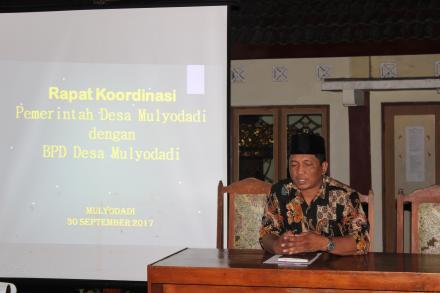 Rapat Koordinasi Pemerintah Desa Mulyodadi bersama Badan Permusyawaratan Desa (BPD)