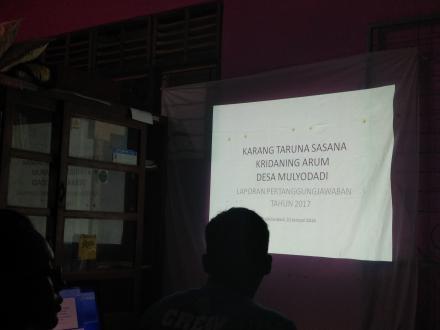 RAKER Karang Taruna Sasana Kridaning Arum Berjalan Lancar