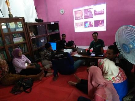 Ngabuburit berfaedah, Karang Taruna Desa Mulyodadi Pelatihan Videography